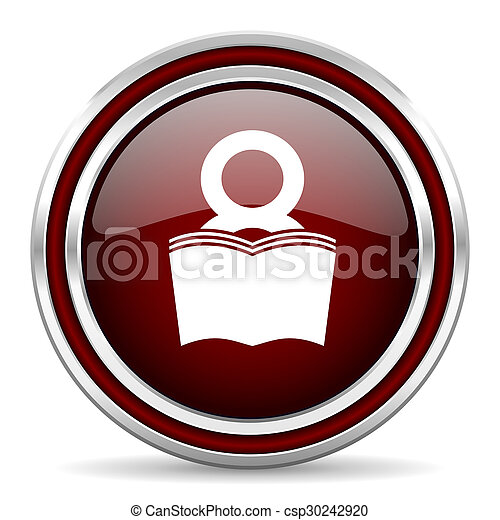 book red glossy web icon - csp30242920