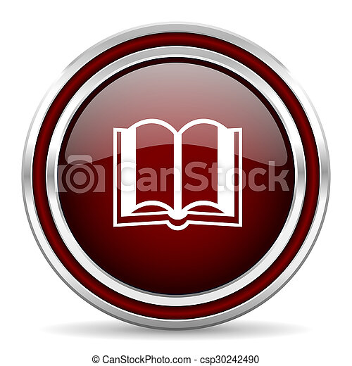 book red glossy web icon - csp30242490