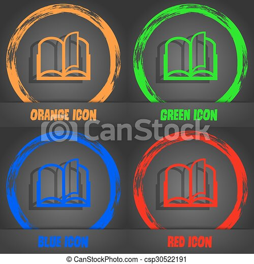 Book sign icon. open book symbol. fashionable modern style. in the ...