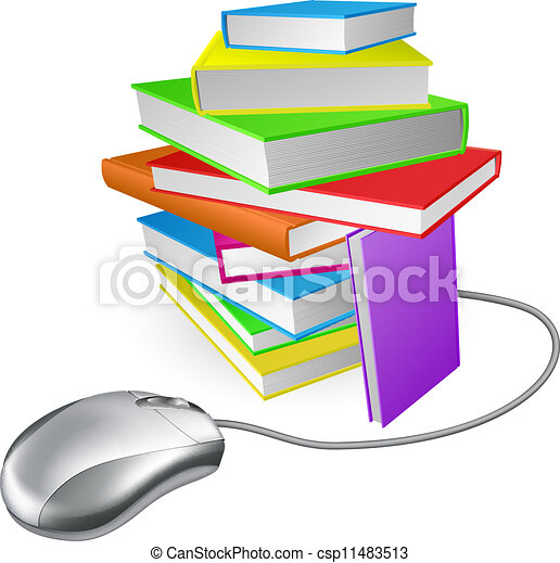 Book stack computer mouse - csp11483513