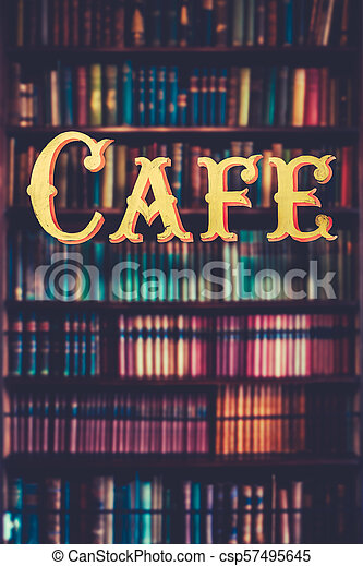 Book Store cafe - csp57495645