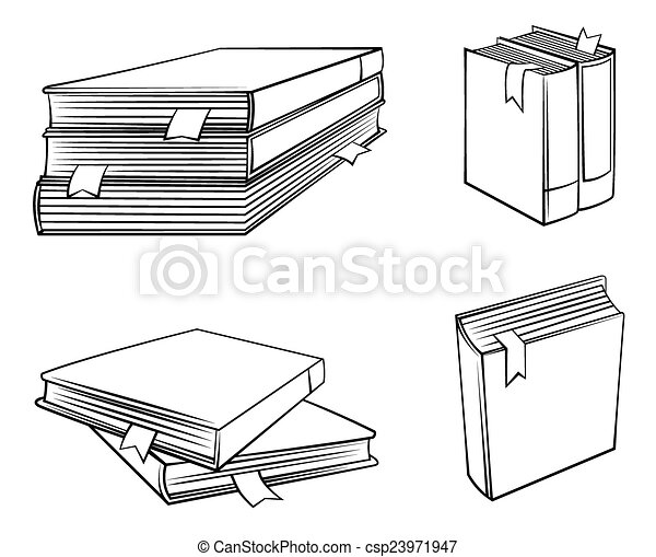 Book Symbol Set Collection - csp23971947