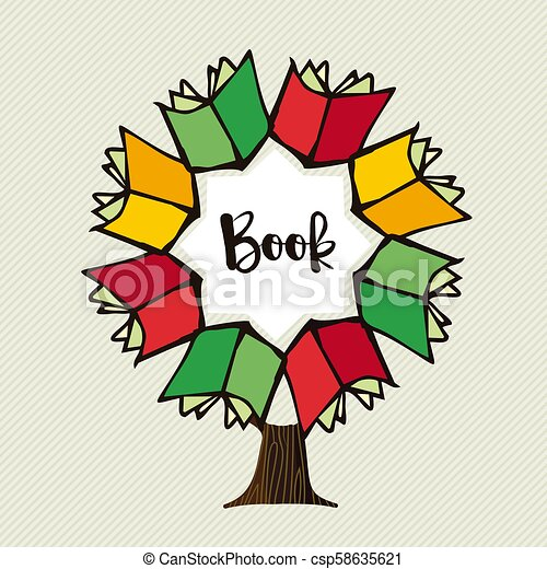 Your Community Library - Book Tree Transparent - Free Transparent PNG  Clipart Images Download