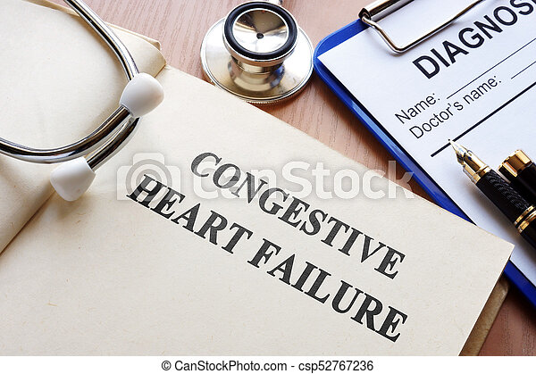 Book with title congestive heart failure. - csp52767236