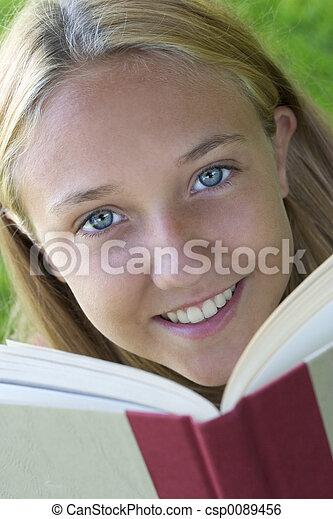 Book Woman - csp0089456