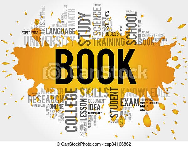 BOOK Word cloud. - csp34166862