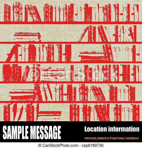 Bookcase Background - csp6189736