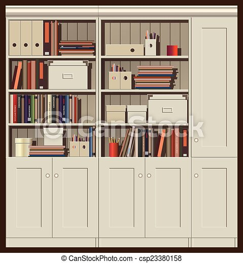 bookcase - csp23380158