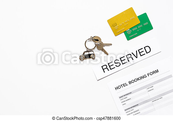 Booking form for hotel room reservation white background top ...