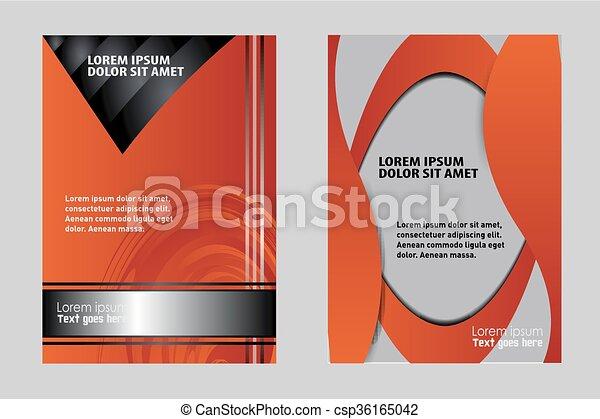 Booklet design template.