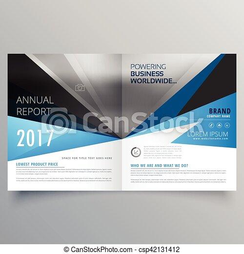 Booklet magazine cover page creative template design vector clip art ...