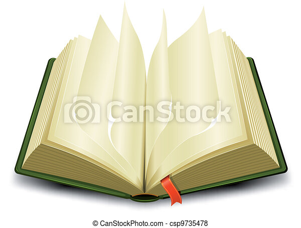 Bookmark And Flipping Pages - csp9735478