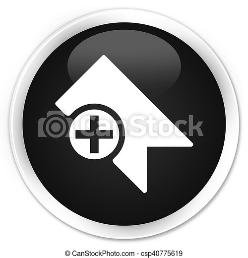 Bookmark icon black glossy round button - csp40775619