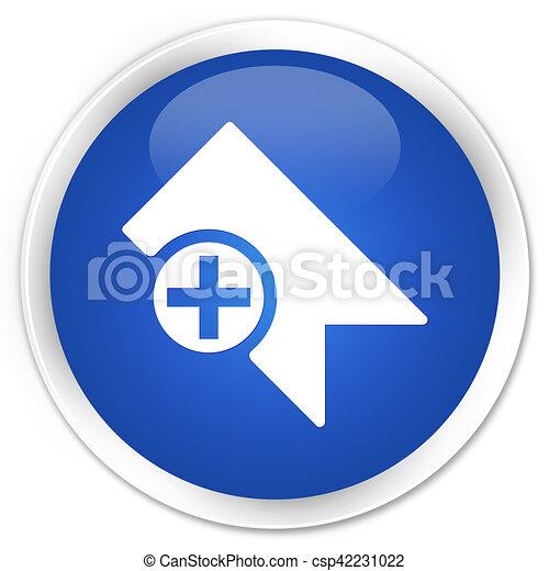 Bookmark icon blue glossy round button - csp42231022