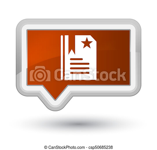 Bookmark icon prime brown banner button - csp50685238