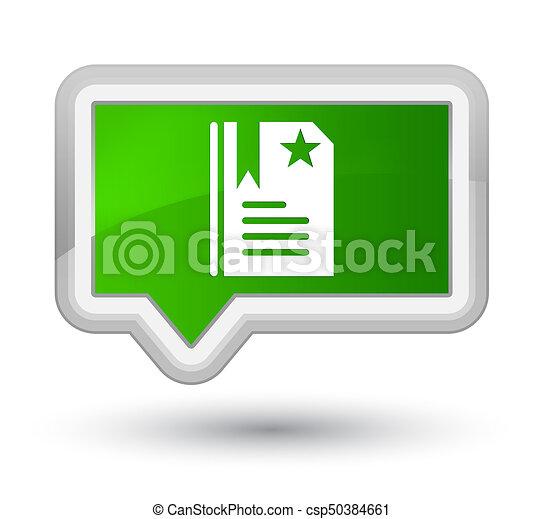 Bookmark icon prime green banner button - csp50384661