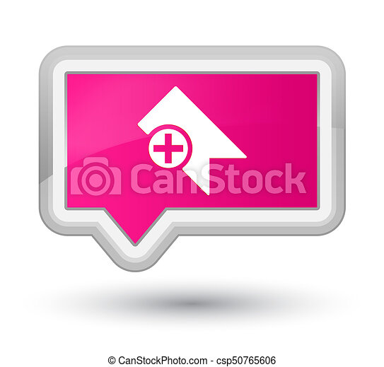 Bookmark icon prime pink banner button - csp50765606