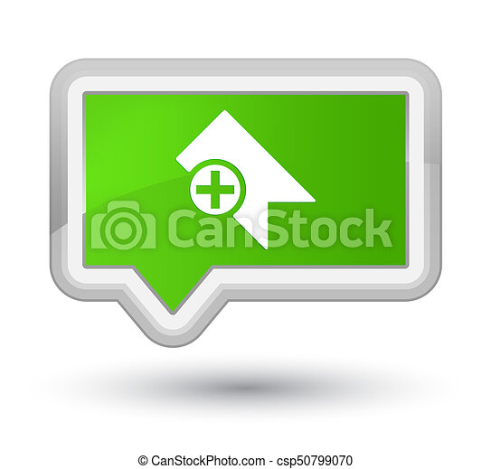 Bookmark icon prime soft green banner button - csp50799070