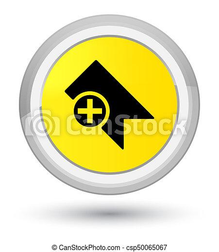 Bookmark icon prime yellow round button - csp50065067
