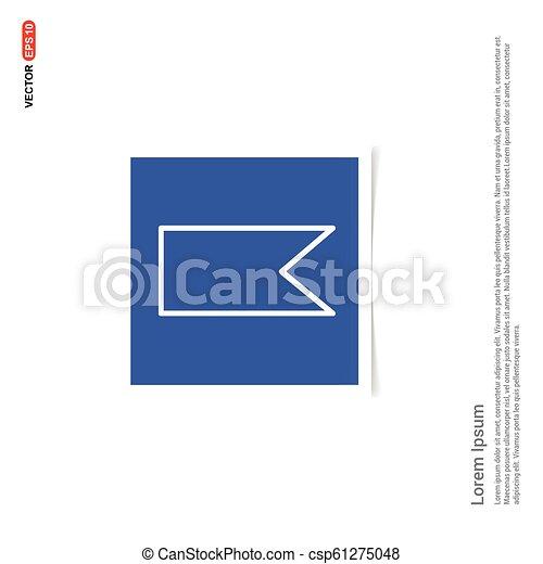 Bookmark ribbon icon - Blue photo Frame - csp61275048