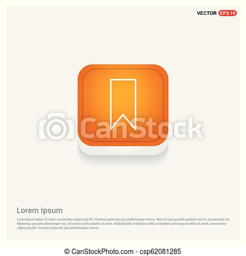 Bookmark ribbon icon - csp62081285
