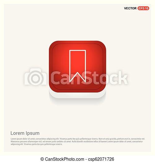 Bookmark ribbon icon - csp62071726