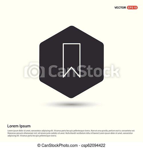 Bookmark ribbon icon - csp62094422