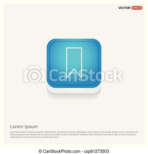 Bookmark ribbon icon - csp61273503