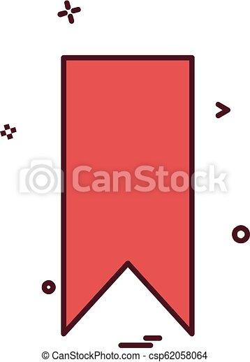 Bookmark tag icon design vector - csp62058064