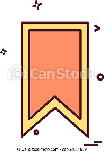 Bookmark tag icon design vector - csp62034659