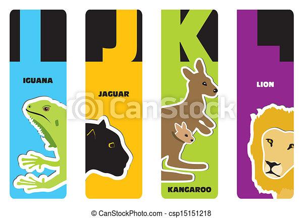 bookmarks - animal alphabet - csp15151218