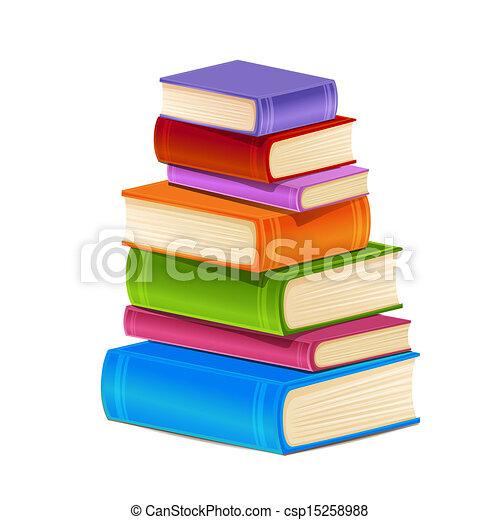 books., 山, カラフルである - csp15258988