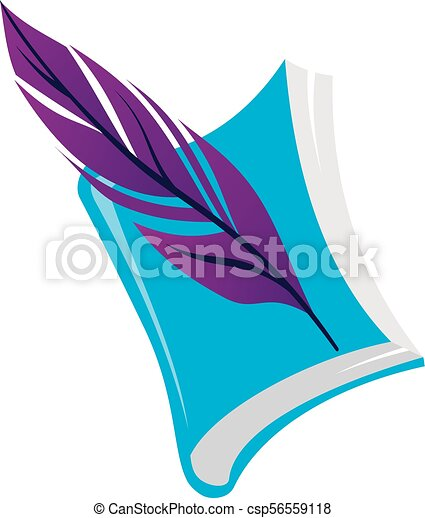 Books and Feather - csp56559118