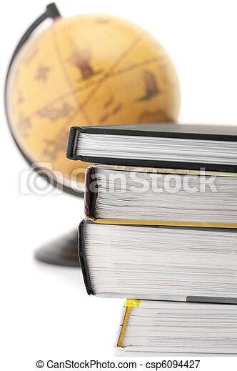 Books and globe - csp6094427