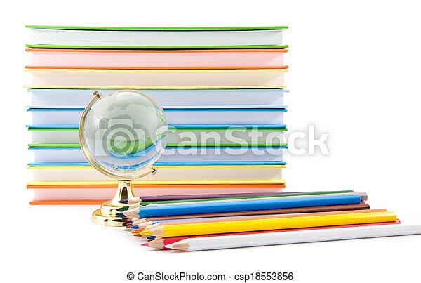 books and globe - csp18553856