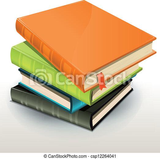 Books And Pics Albums Pile - csp12264041