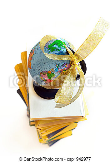 Books and world globe - csp1942977