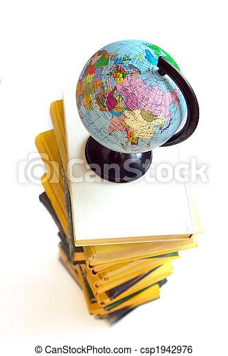 Books and world globe - csp1942976