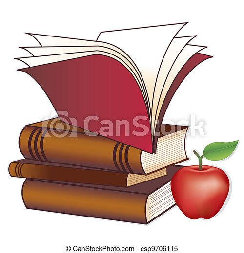 Books, Apple for the Teacher - csp9706115