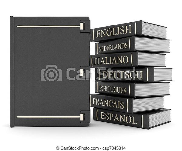 Books bindings and Literature - csp7045314