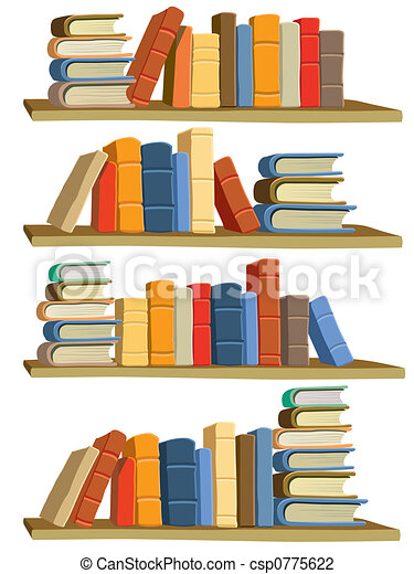 Books. Collection of colorful books on white background.