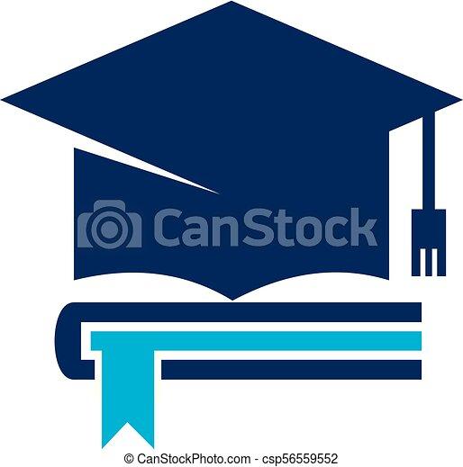 Books Graduation Cap - csp56559552