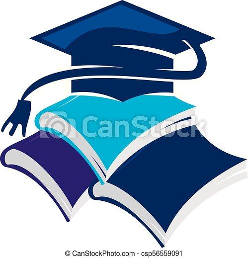 Books Graduation Cap - csp56559091