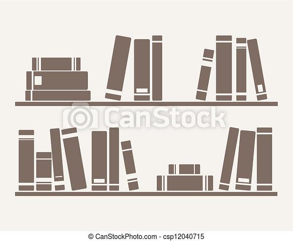 Books on the shelf vector - csp12040715