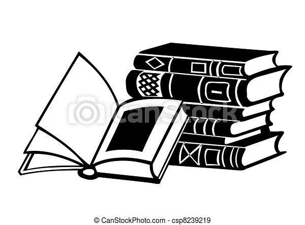 books on white background, vector illustration - csp8239219