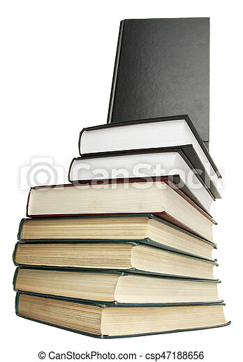 Books pile isolated on white - csp47188656