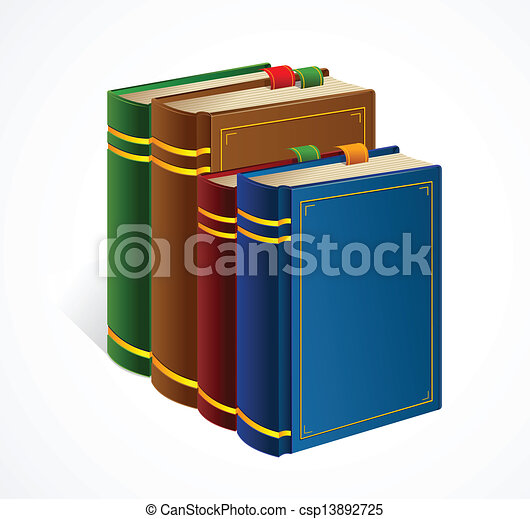 Books shelf icon. Vector Illustration - csp13892725