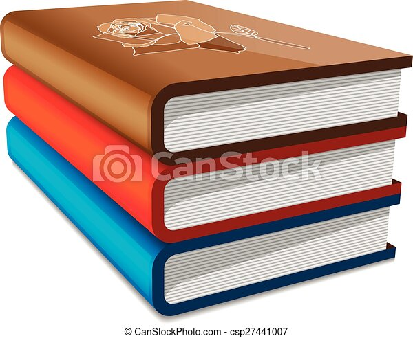 Books stack  - csp27441007