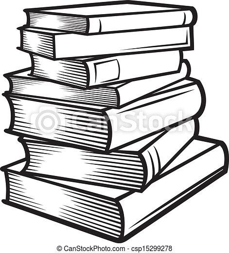 Bücherstapel zeichnung  books, stacked), buecher, stapel.