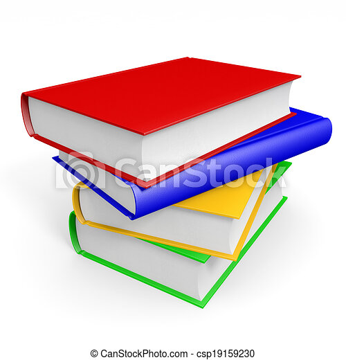 books., stapel - csp19159230